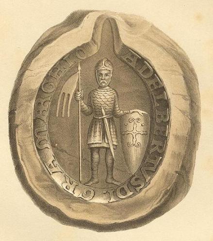 Siegel von Albrecht dem Bären, dem ersten Markgrafen der Mark Brandenburg
