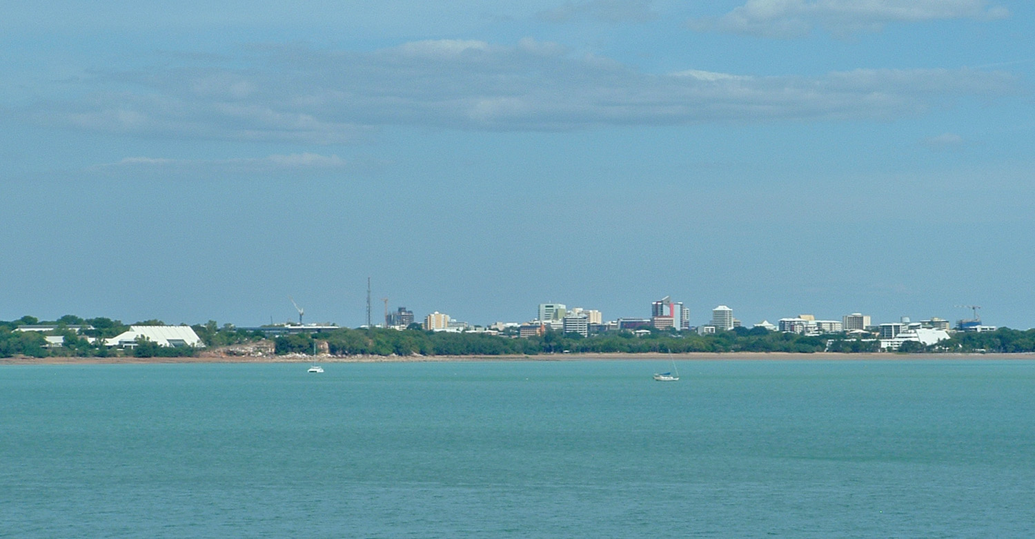 Darwin city skyline from East Point Reserve