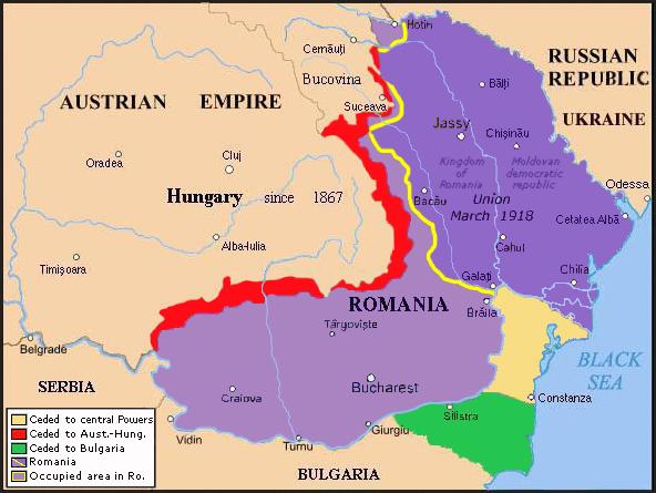 România în 1918