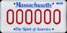 1987 Massachusetts Sample License Plate