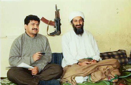 English: Hamid Mir interviewing Osama bin Lade...