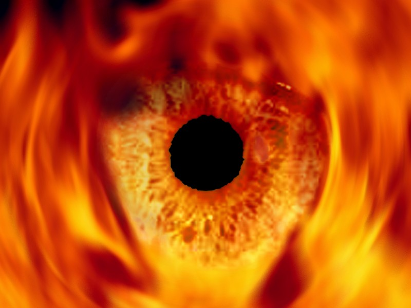 Collage Eye in the fire