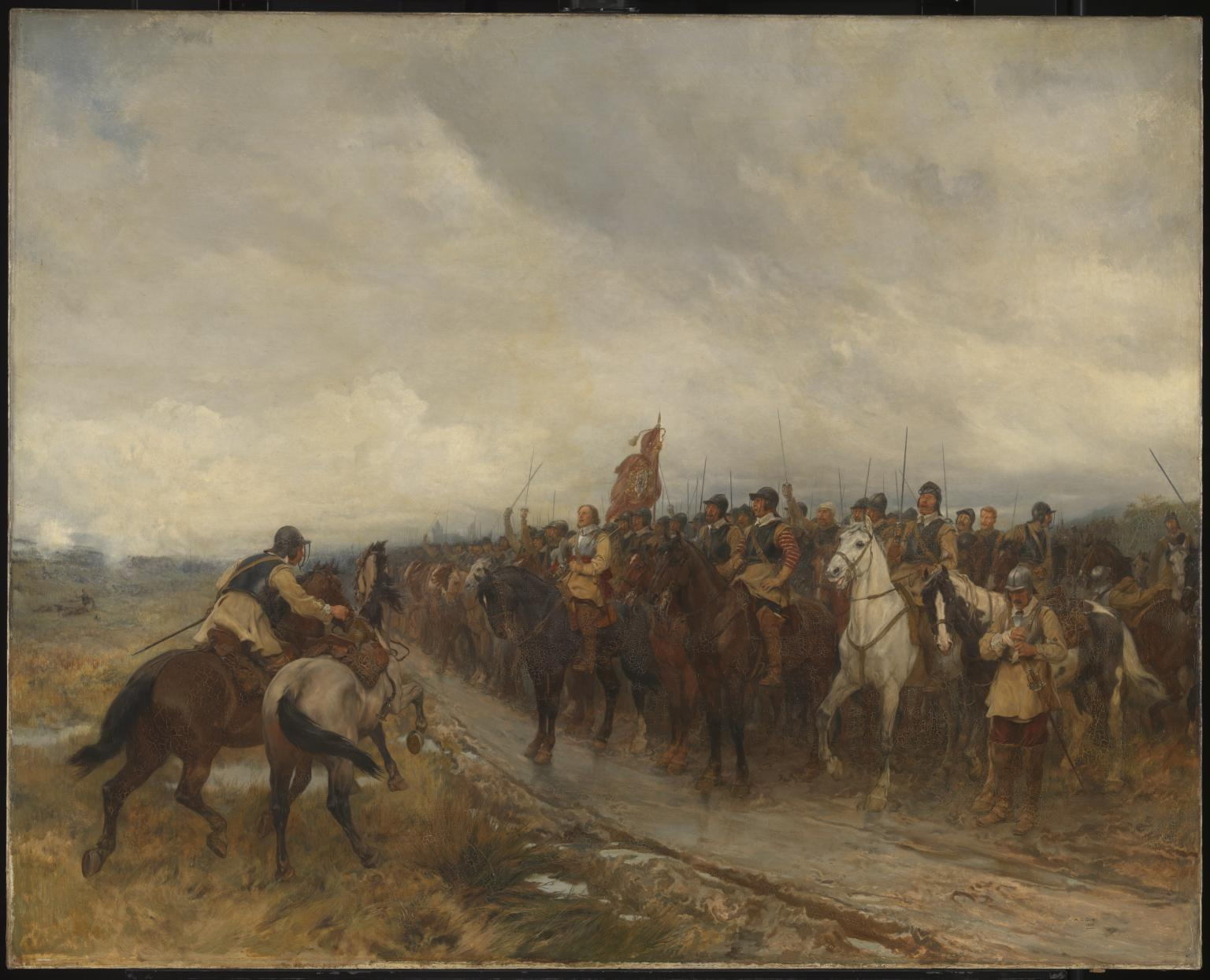 Cromwell at Dunbar.  Andrew Carrick Gow (1848–1920)