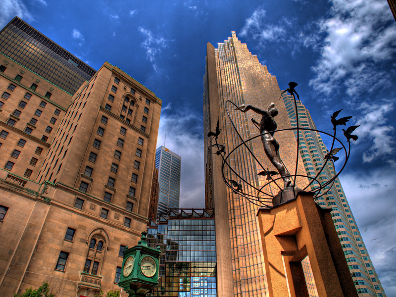 Monument to Multiculturalism by Francesco Perilli in Toronto, Canada. Four identical sculptures are located in Buffalo City, South Africa; Changchun, China; Sarajevo, Bosnia and Sydney, Australia.
