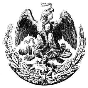 English: Interpretation of Mexican Eagle 1887