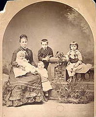 Writer Kate Chopin and her sons Frederick, Geo...