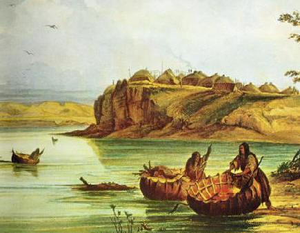 https://i1.wp.com/upload.wikimedia.org/wikipedia/commons/a/a8/Mandan_Bull_Boats_and_Lodges-_George_Catlin.jpg
