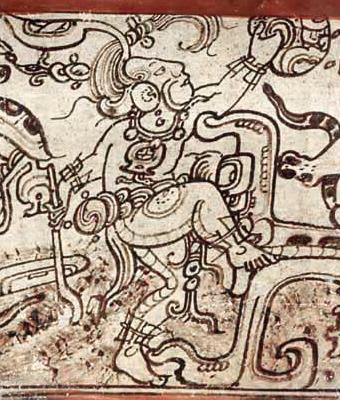 English: The Maya rain deity
