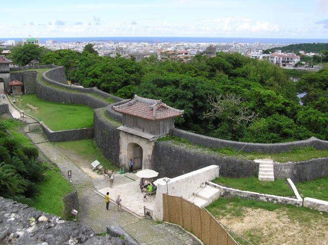 Viewing East China Sea from Shuri Castle
