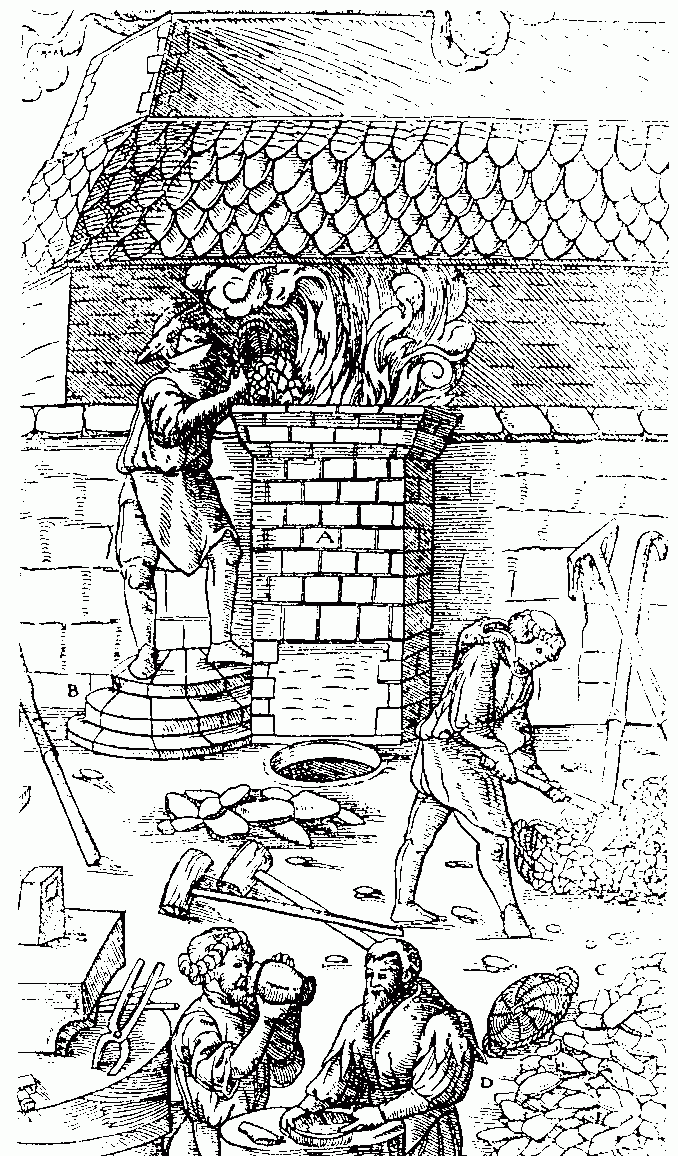 Middle ages steel production, a high labor cost