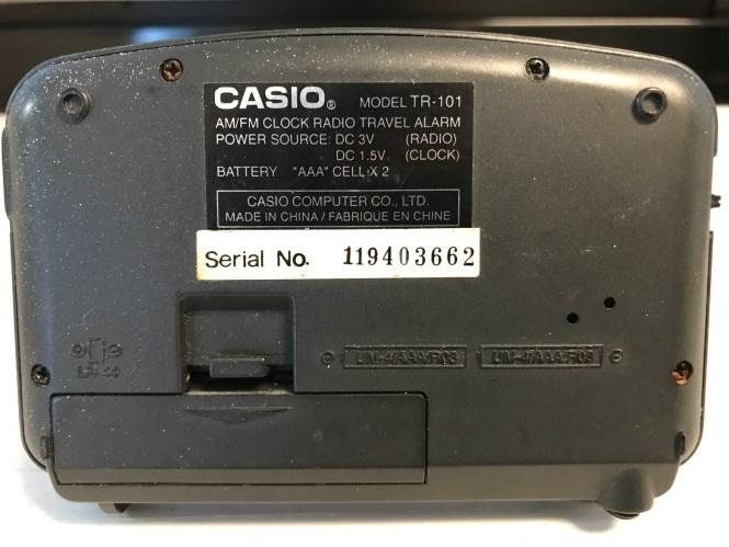 Casio Am Fm Clock Radio Travel Alarm