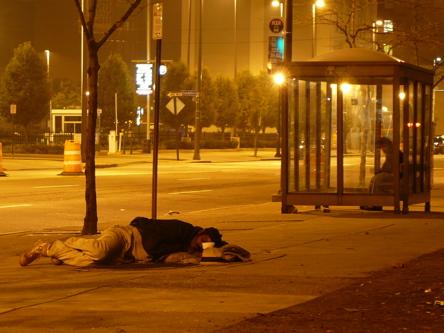 Cleveland night homeless