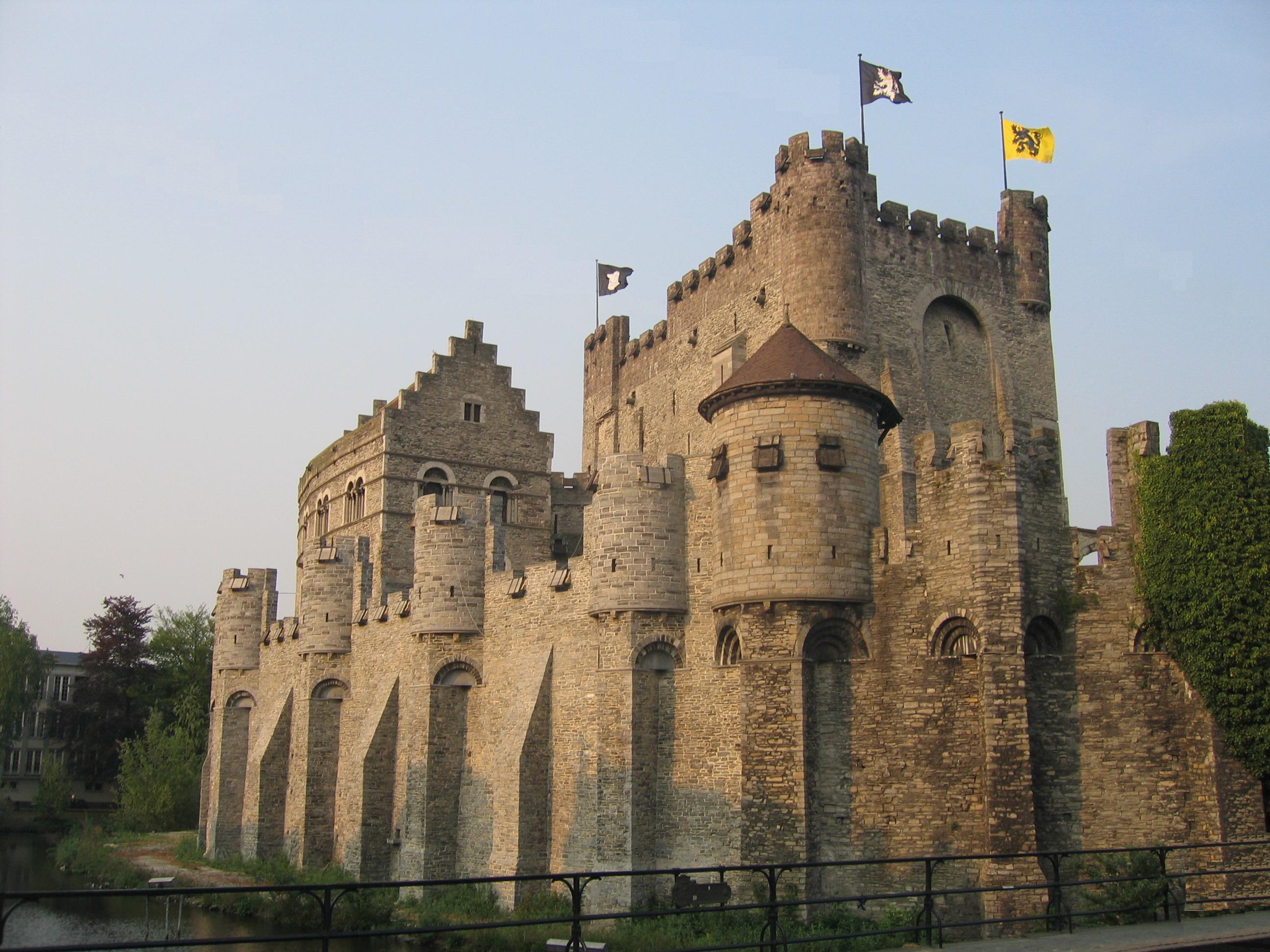 Het Gravensteen te Gent, gebouwd door Filips van den Elzas