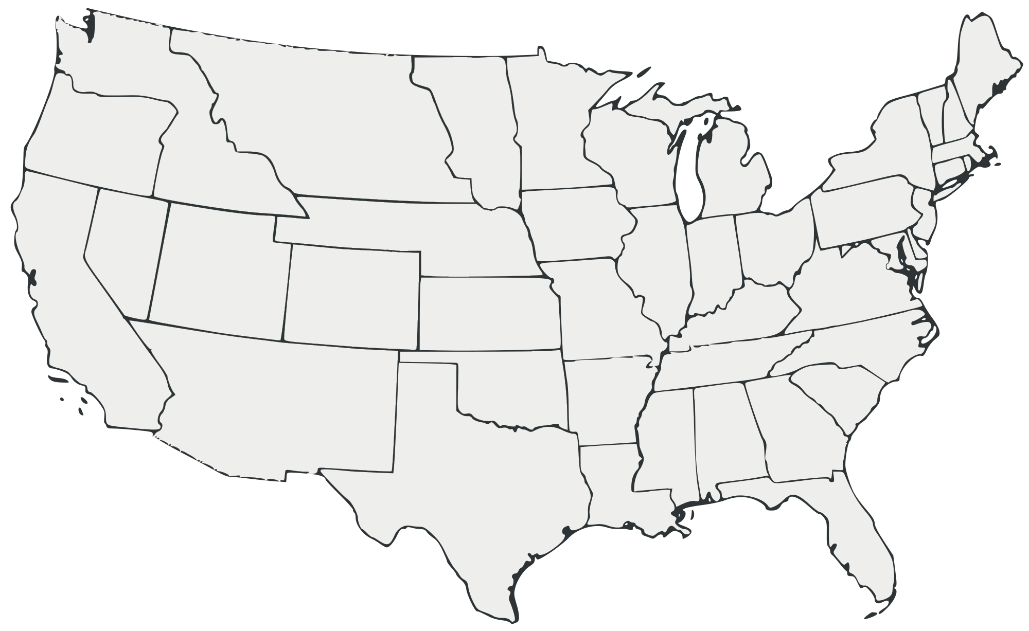 File Blank Map Of The United States All White