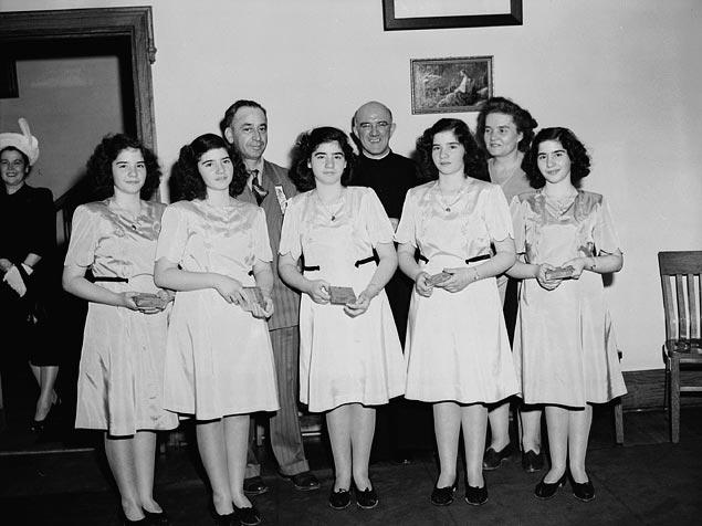 Dionne Sisters in June 1947