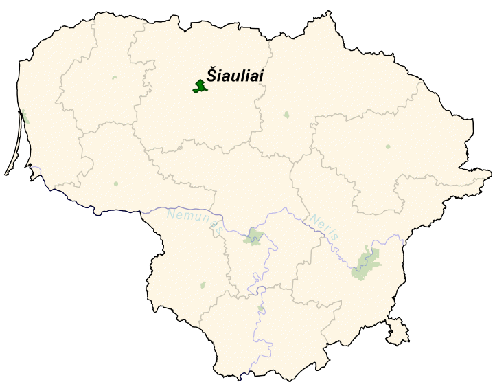 Ubicación de Šiauliai