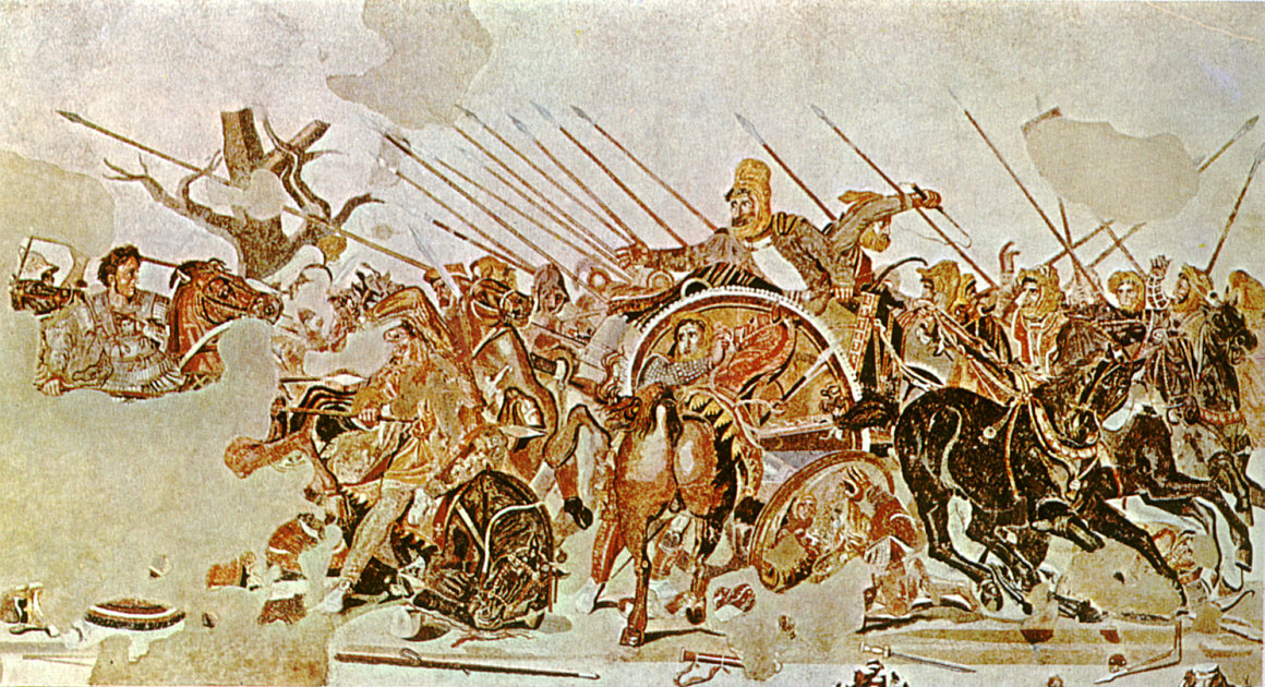 Detail of Alexander Mosaic, showing Battle of Issus.