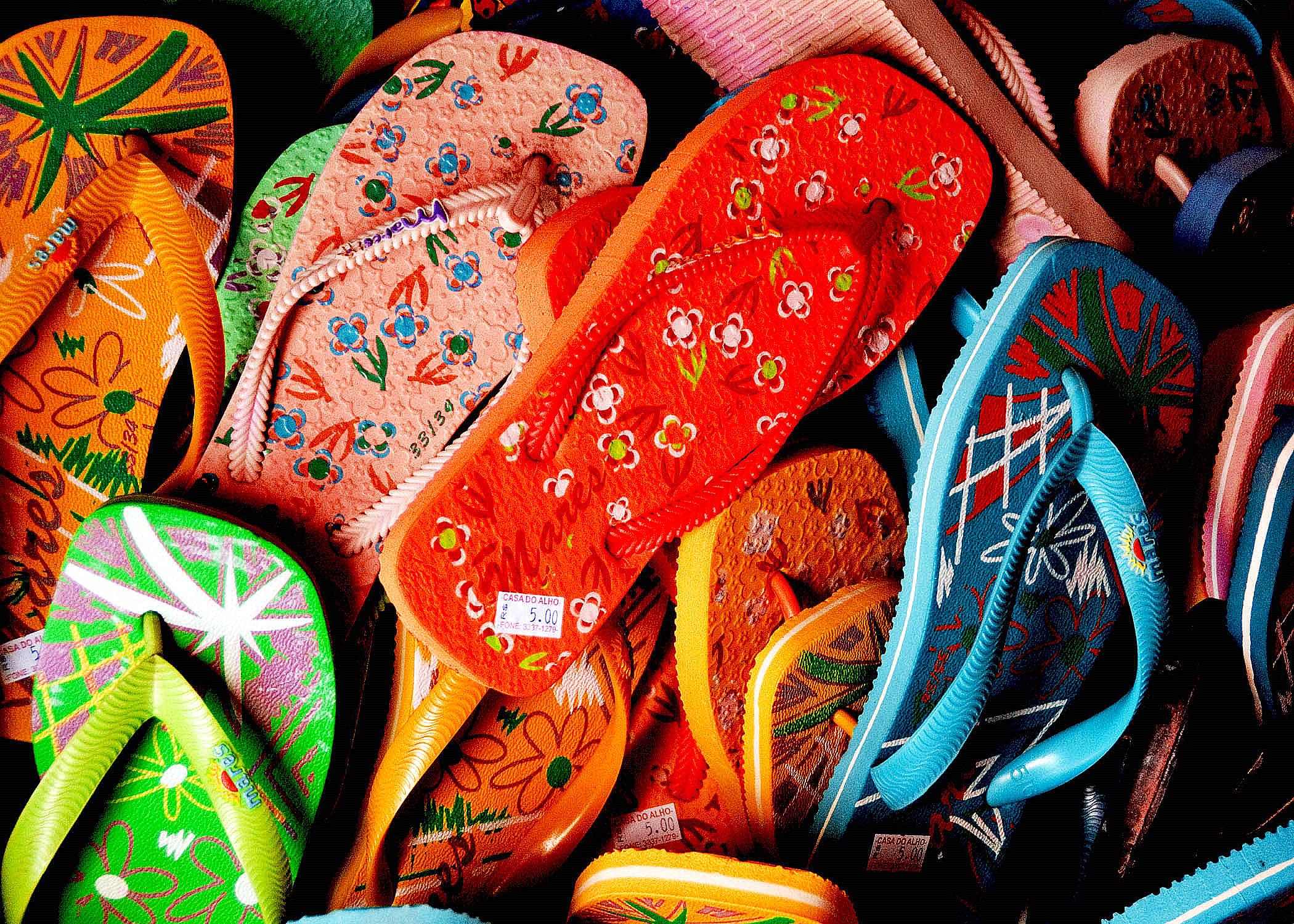 photo of flip flops