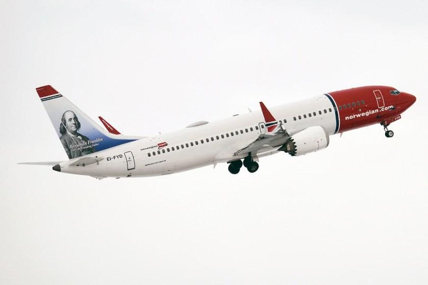 Bildresultat för norwegian boeing 737 max