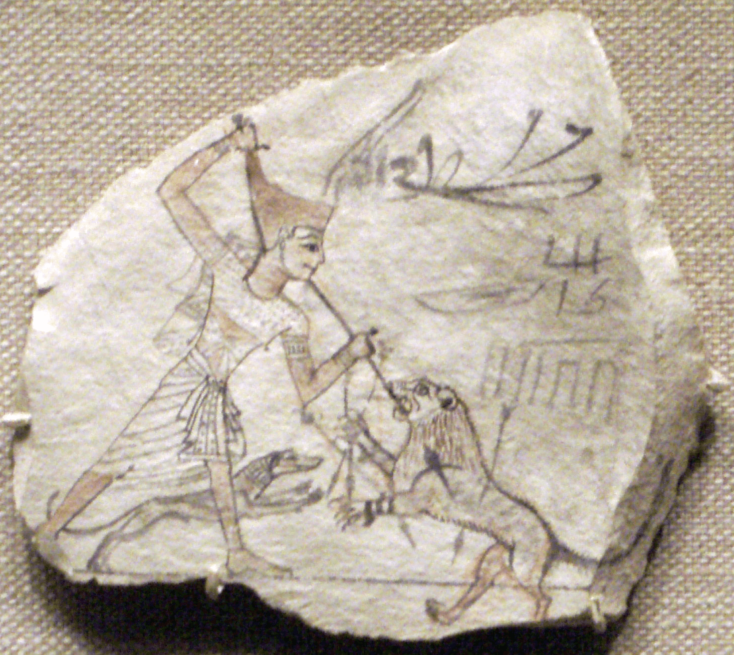 Ostracon from the Ramesside period, dynasties 19-20. From Thebes.