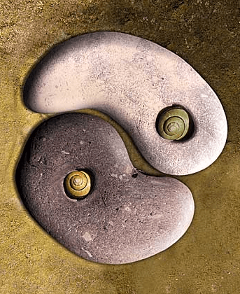 Yin and yang stones