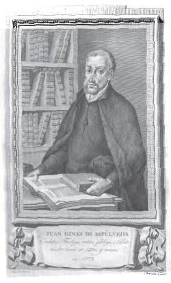 Juan Gines de Sepùlveda (Cordova, 1490 – Cordova, 1573) è stato uno scrittore spagnolo. Umanista, sostenne l'inferiorità degli indios e la necessità della conquista per portare l'evangelizzazione nelle Americhe.
