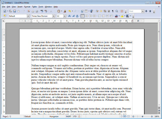 A document in Libreoffice Writer