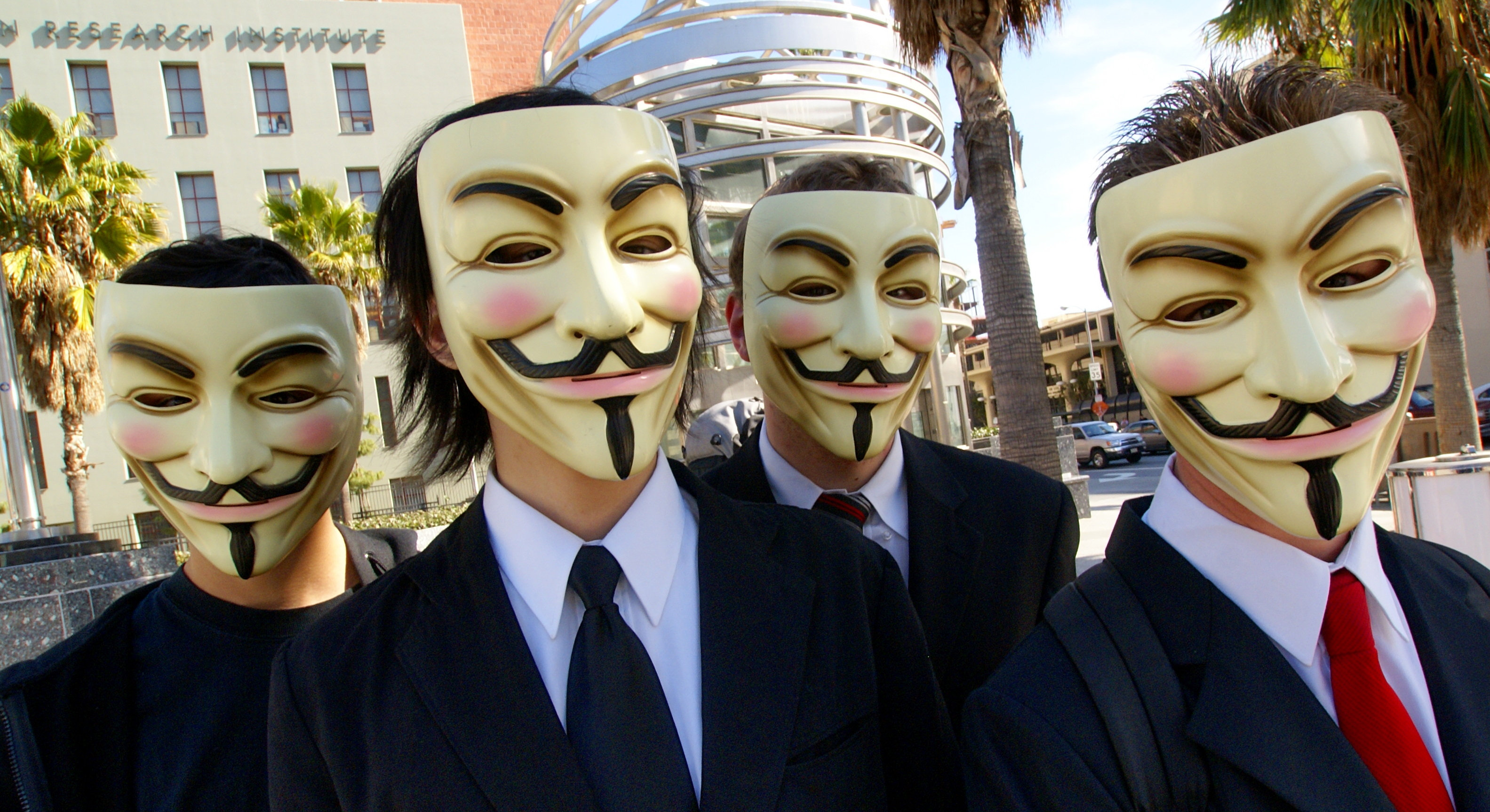 Integrantes do Anonymous