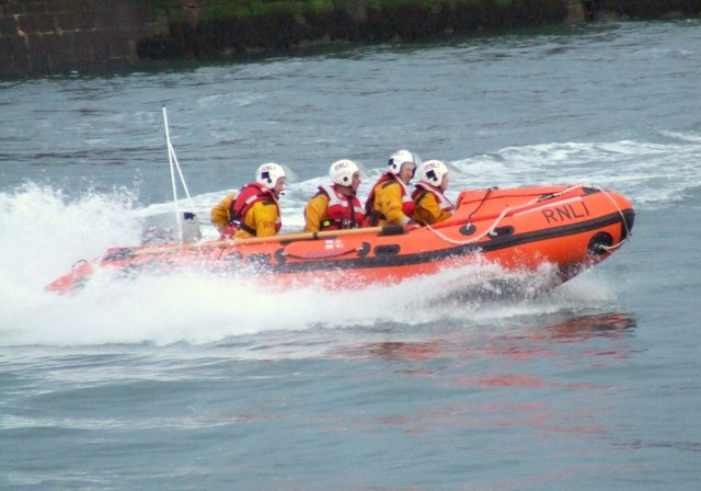 File:The RNLI strutting their stuff^ - geograph.org.uk - 757548.jpg