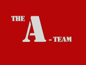 Screenshot of intertitle from The A-Team