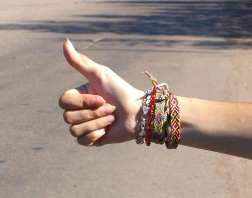 Hitchhiker's gesture