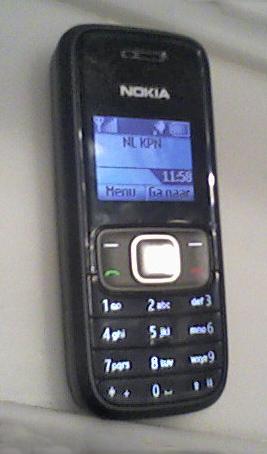 English: Nokia 1209 Italiano: Un telefono cell...