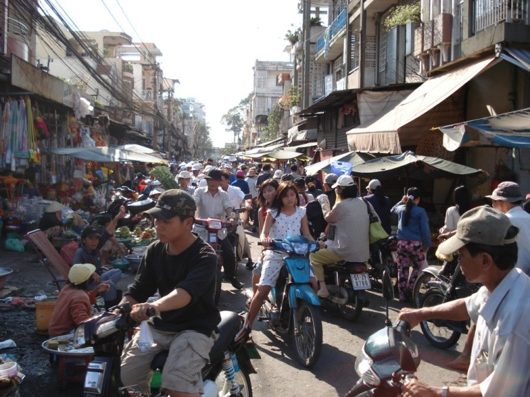 Image result for ho chi minh city street market