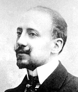 Italian writer Gabriele D'Annunzio (1863-1938)