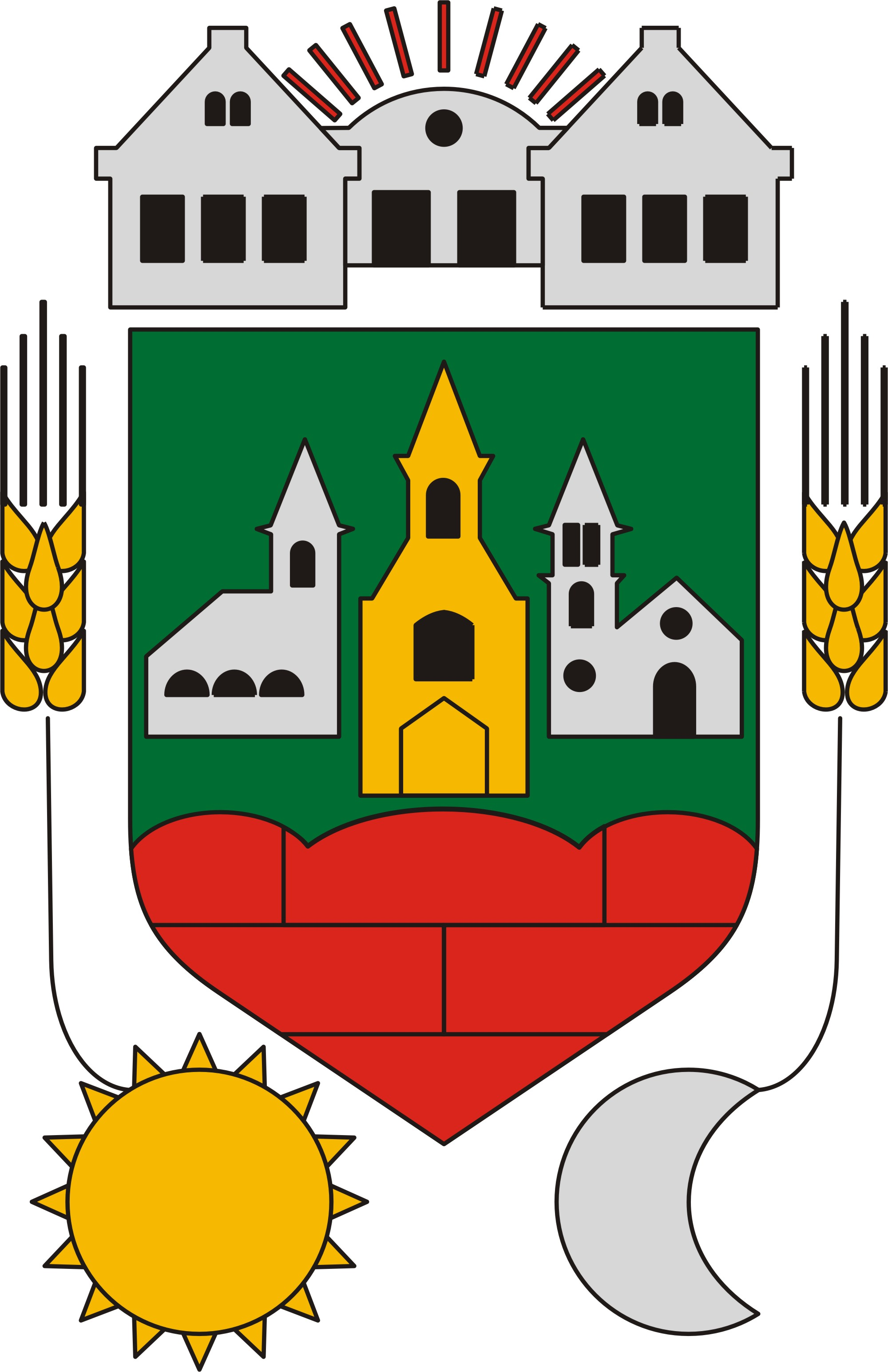 Coat of arms of Szerecseny, Hungary
