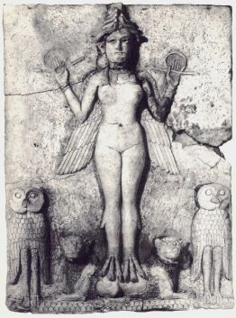 Sumerian Terracotta relief, Lilith, 1950 BCE. ...