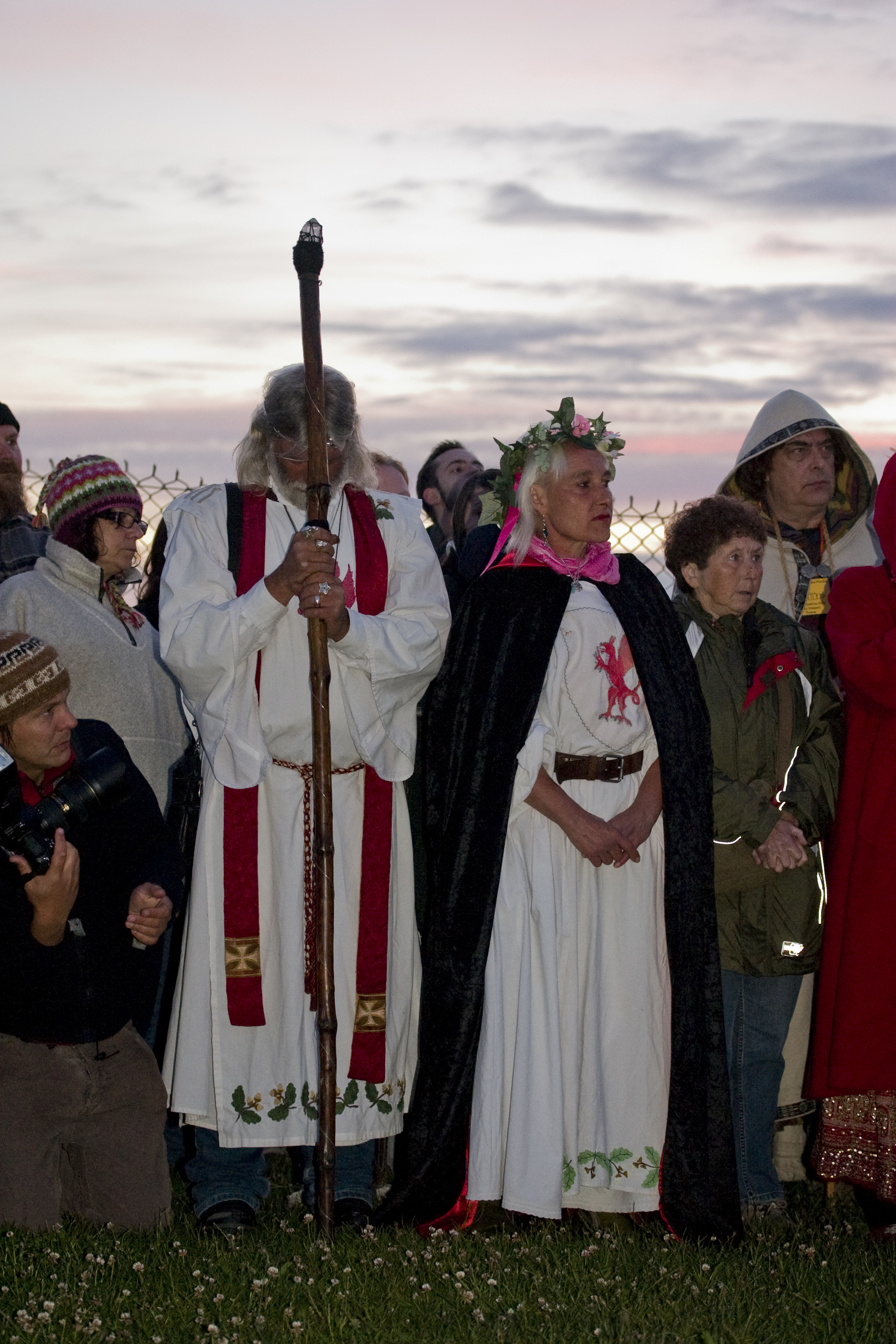 Arthur Uther Pendragon celebrating solstice at Stonehenge