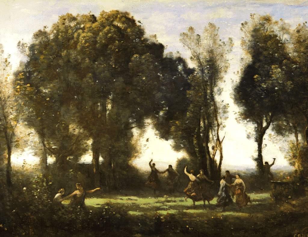 Camille Corot, Dança das Ninfas [Mus. do Louvre - Paris]