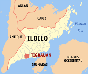 English: Map of Iloilo showing the location of...