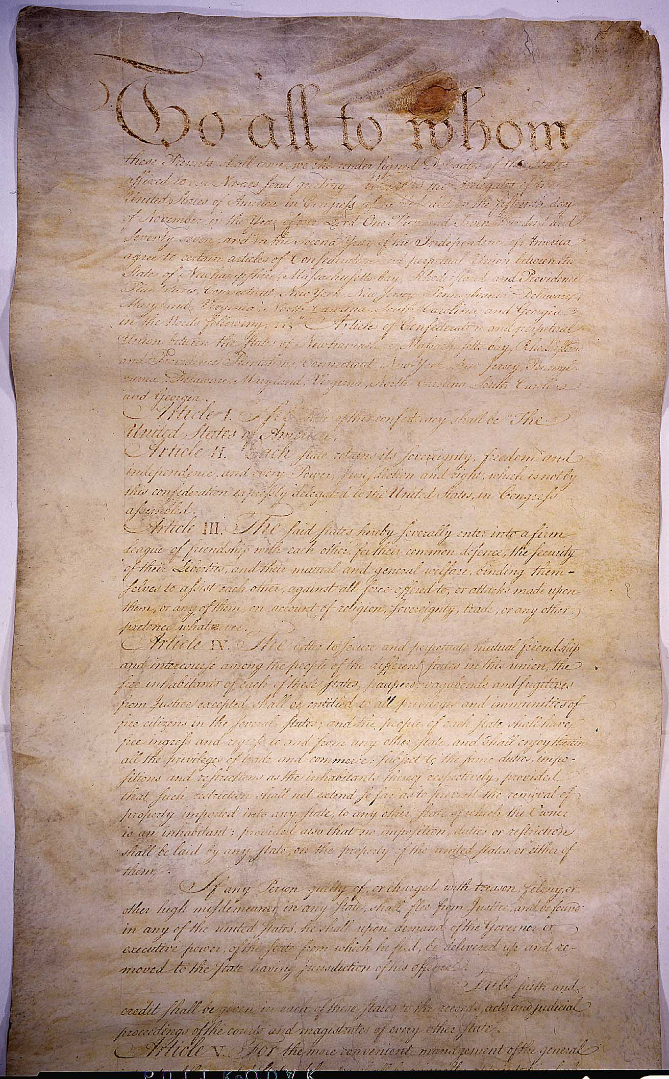 This is a copy of the Declaration of Independence