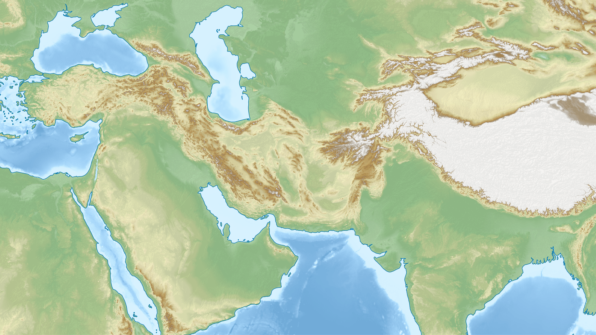 File Middle East Topographic Map