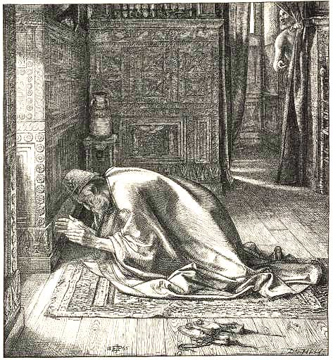Daniel's Prayer (1865) by Sir Edward Poynter, from illustrations for Dalziel's Bible Gallery, in the Tate
