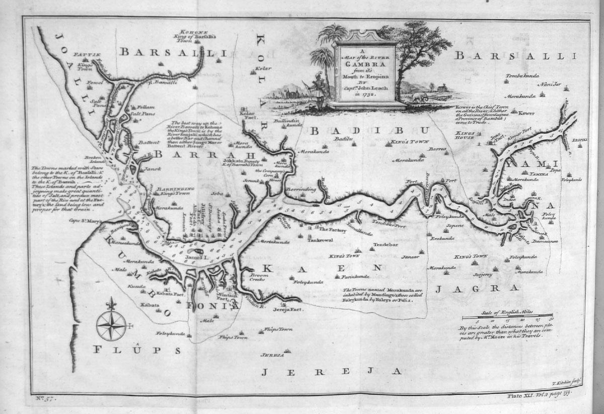 Gambia Alte Karte