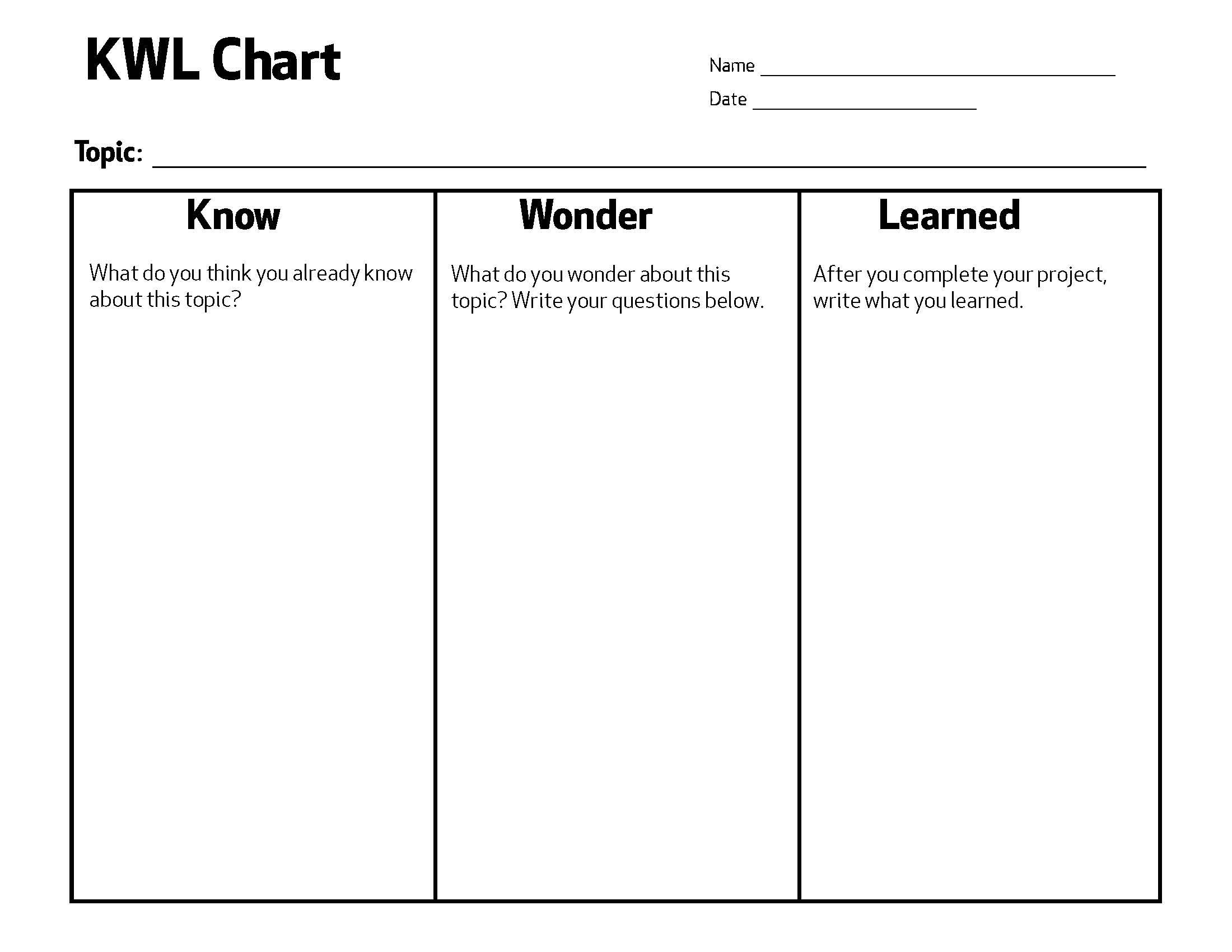 File Kwl Chart