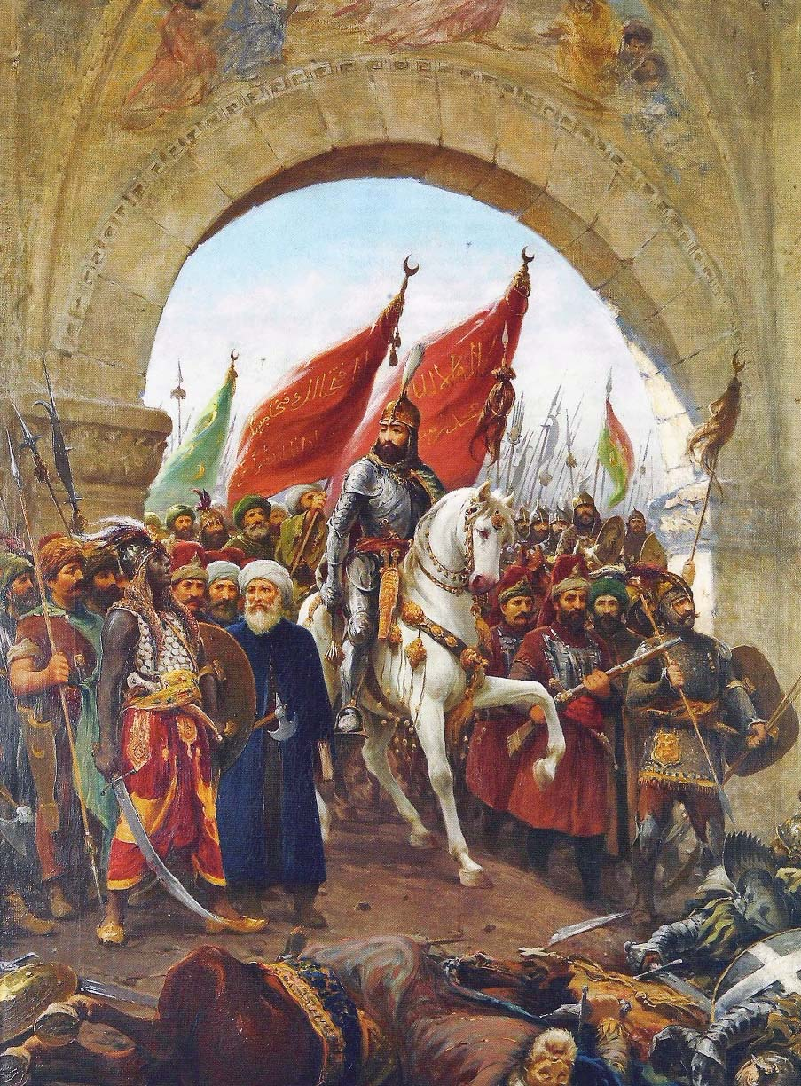 Mehmed II enters Constantinople with his army.