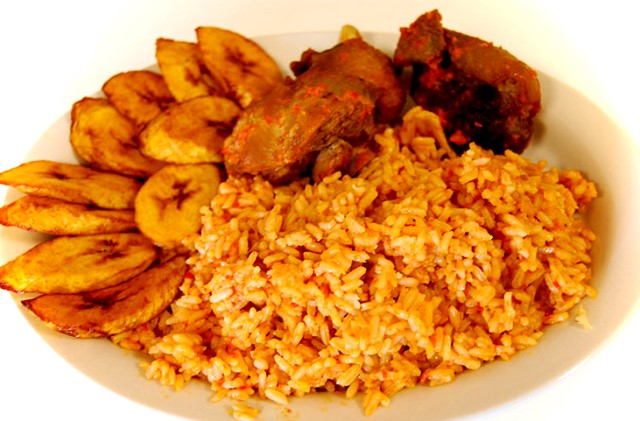 Delicious Jollof rice : http://whro.org/images/letseat/jollof_rice.jpg