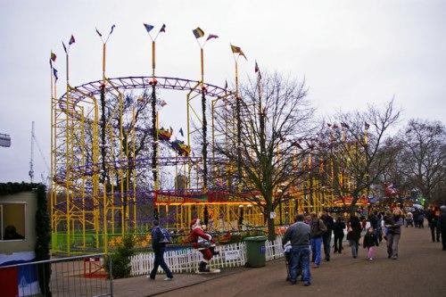 Roller Coaster at Winter Wonderland
