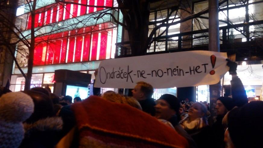 Zdeněk Ondráček protest