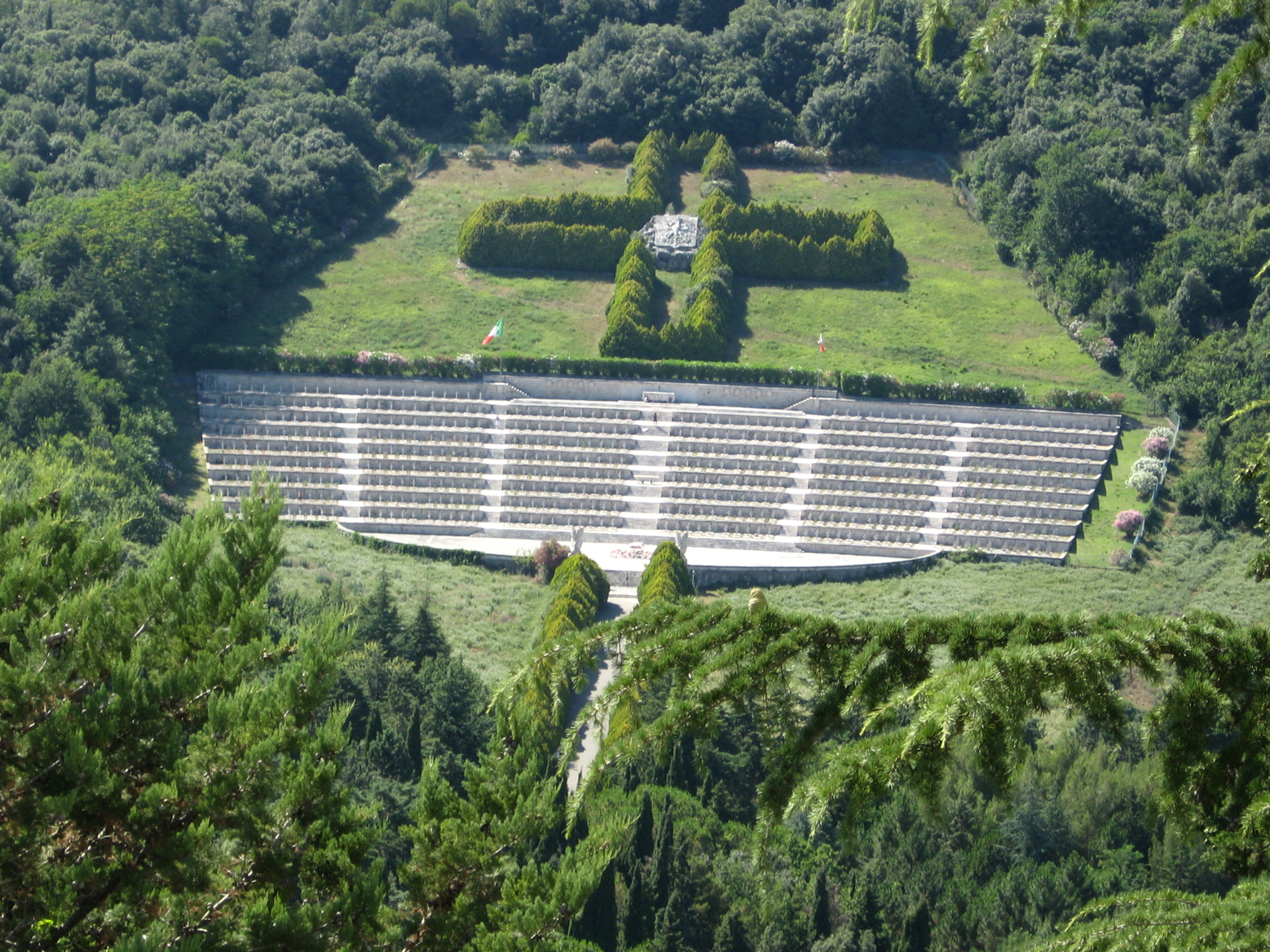 Monte Cassino. The Polish War Cemetery, seen f...