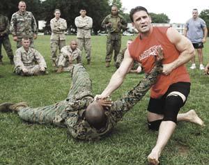 Ken Shamrock, four-time mixed martial arts wor...